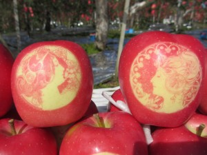 絵入りりんご2